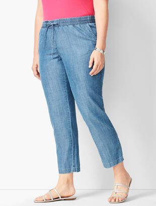 Denim Easy Ankle Pants