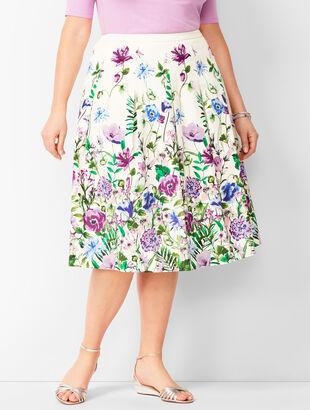 Pleated Garden Skirt