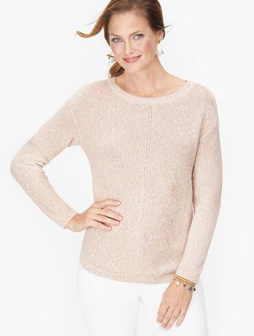 Shaker Stitch Sweater - Marled