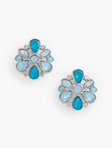 Aqua Frost Stud Earrings