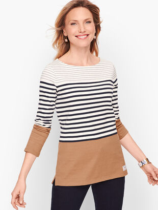 Authentic Talbots Tee - Randall Stripe