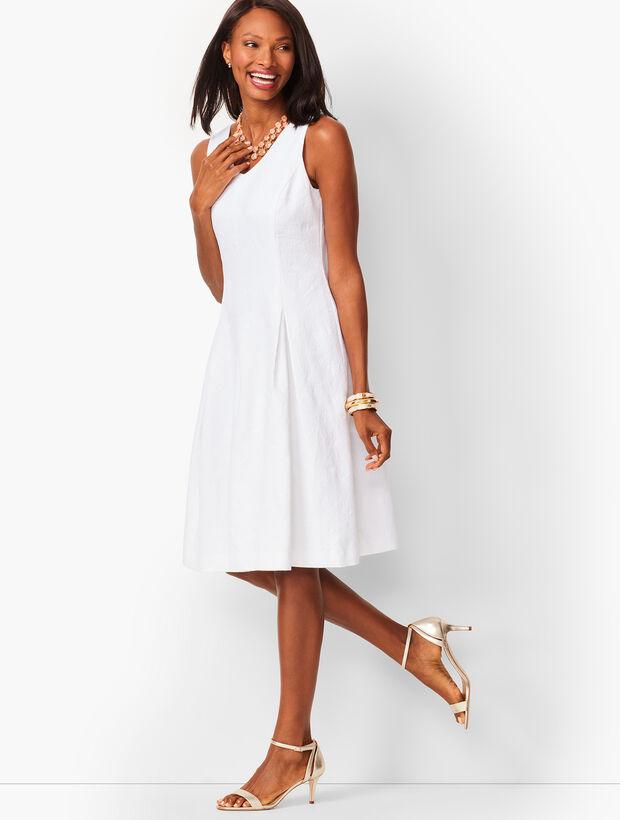 Matelassé Fit & Flare Dress