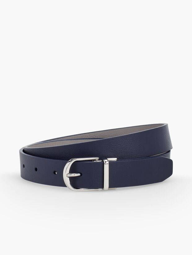 Plus Size Reversible Leather Tab Belt