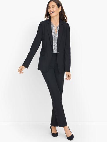 Luxe Wool Single Button Blazer - Black
