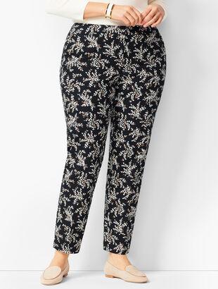 Plus Size Talbots Hampshire Ankle Pants - Petal Print
