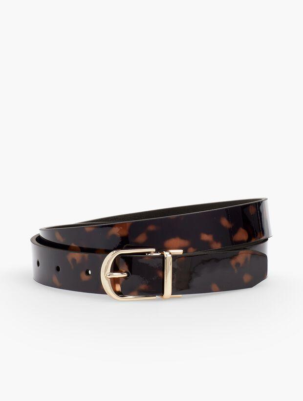 Reversible Tortoise & Leather Belt