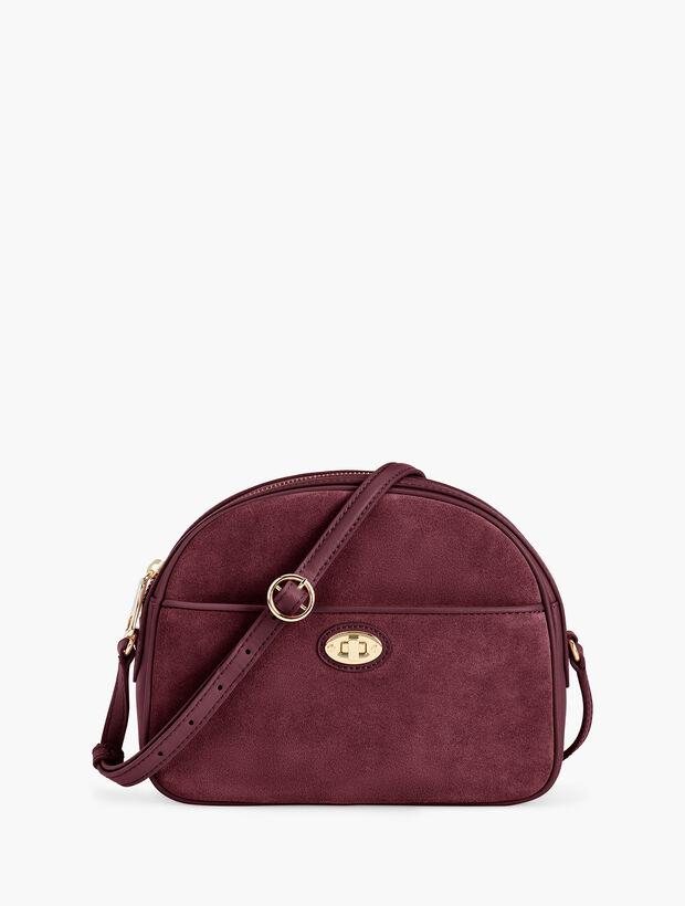Half Moon Leather Bag - Suede
