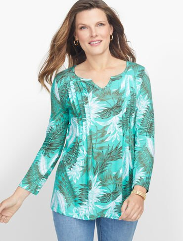 Pleated Palm Frond Tunic