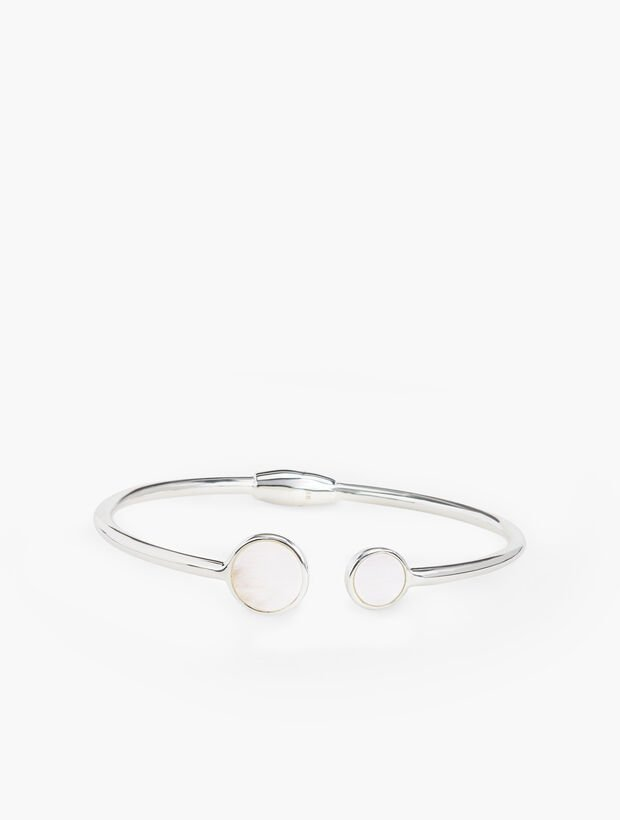 Mother of Pearl Bangle with Sterling Silver