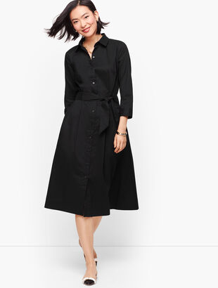Belted Poplin Shirtdress