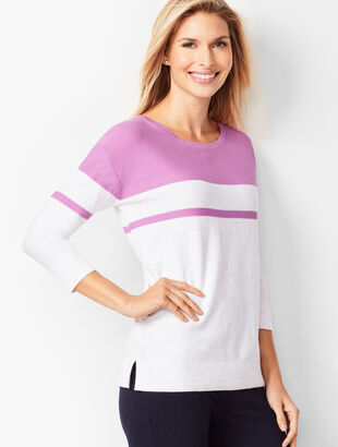 Space-Dyed Colorblock Sweater