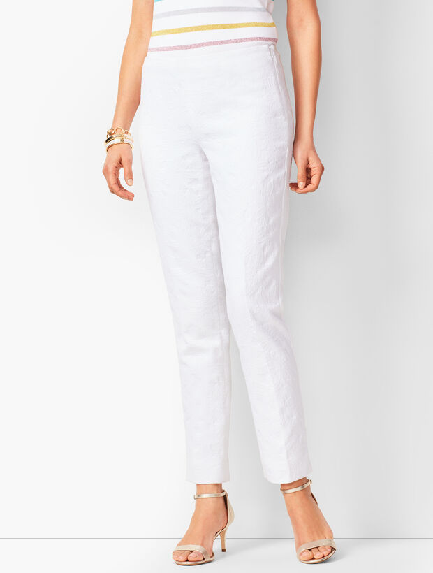 Matelassé Tailored Ankle Pants