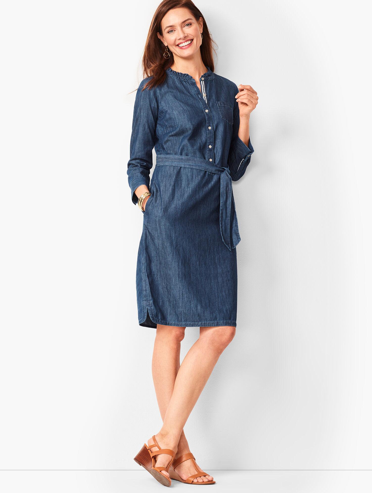 Denim Shirt Dress   Talbots