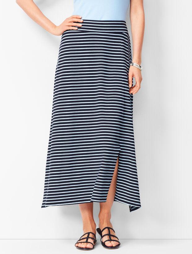 Jersey Maxi Skirt - Stripe