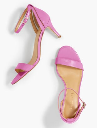 Rosalie Ankle-Strap Sandals - Patent Leather