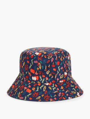 Floral Reversible Rain Hat
