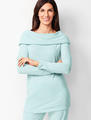 Brushed Melange Off-The-Shoulder Top