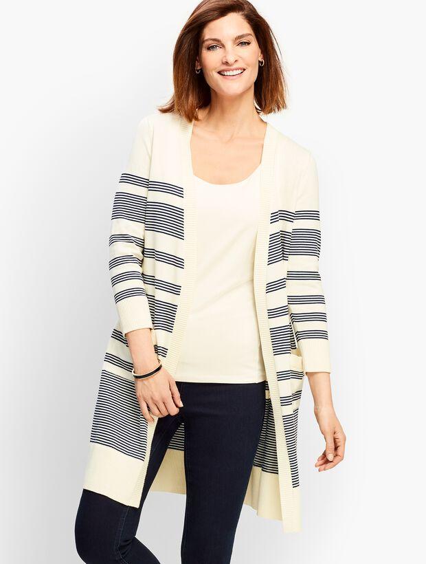 Long Stripe Cardigan