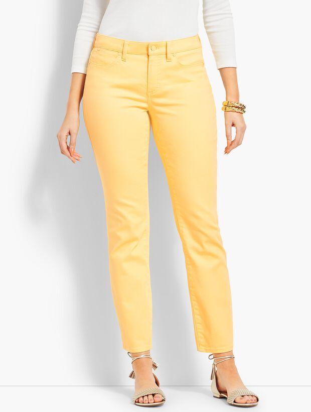 70f72095df Colored Denim Slim Ankle Jean - Curvy Fit