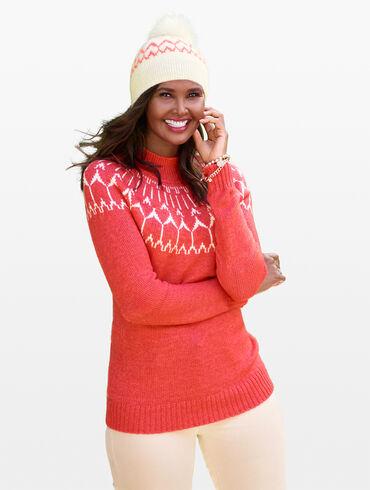 Fair Isle Mockneck Sweater