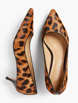 Sylvie Kitten-Heel Pumps - Haircalf