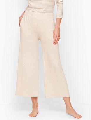 Lightweight Jersey Wide Leg Crops
