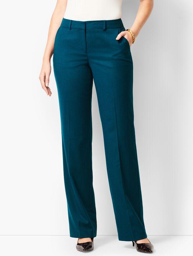 Luxe Italian Flannel Windsor Pants - Curvy Fit