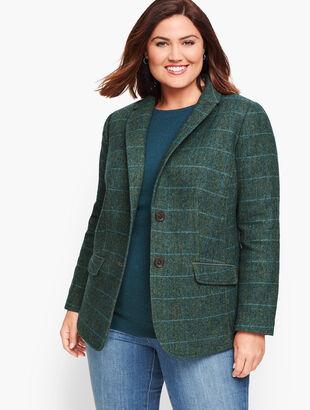 Shetland Wool Blazer - Oversize Check