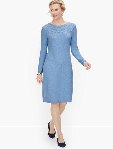 Pointelle Detail Sweater Dress