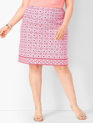 Canvas Cotton A-Line Skirt