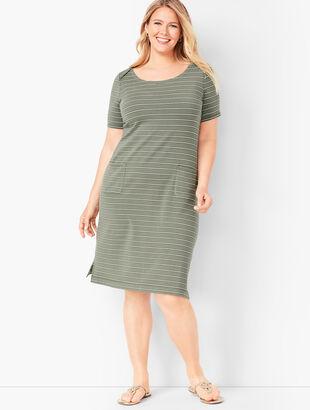Patch-Pocket Stripe Dress