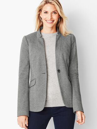 Refined Knit Blazer - Herringbone