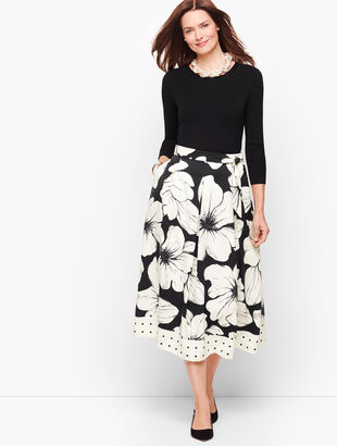 Primrose Dot Pleated Skirt