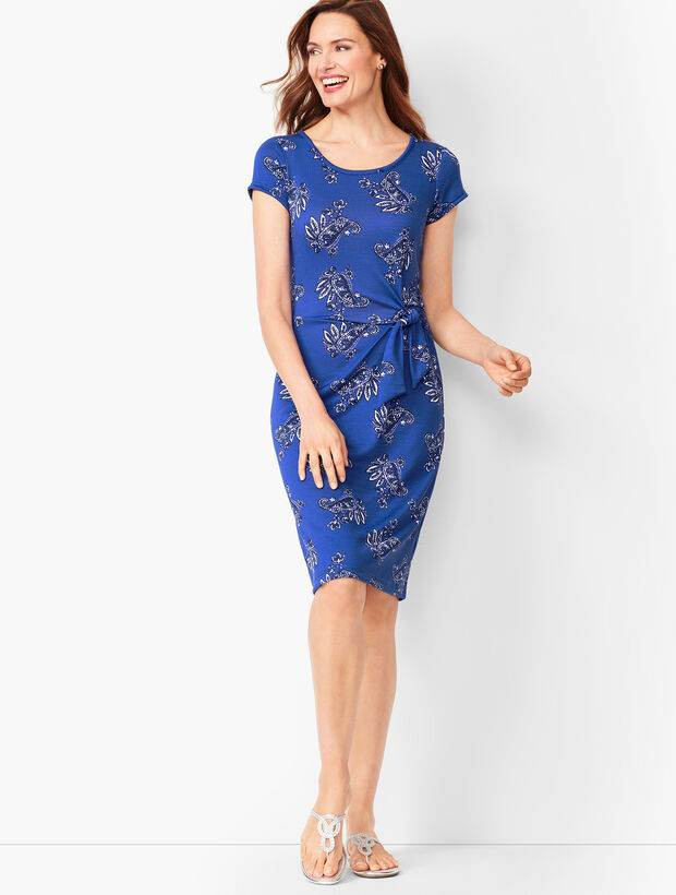 Paisley Marled Jersey Dress