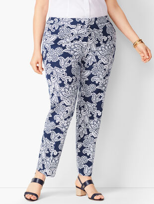 Plus Size Talbots Hampshire Ankle Pants - Paisley