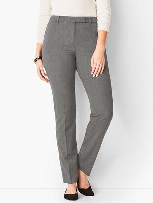 Bi-Stretch High-Waist Straight-Leg Pants - Curvy Fit/Charcoal