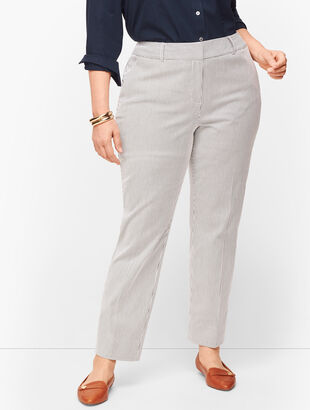 Plus Size Talbots Hampshire Ankle Pants - Curvy Fit - Teatime Stripe
