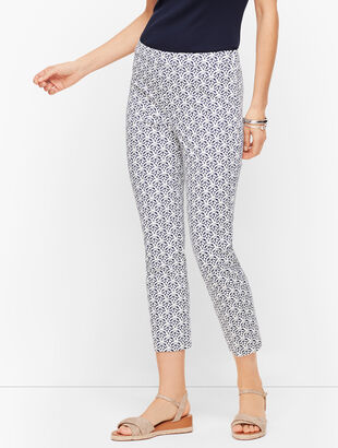 Talbots Chatham Crop Pants - Scallop Tiles