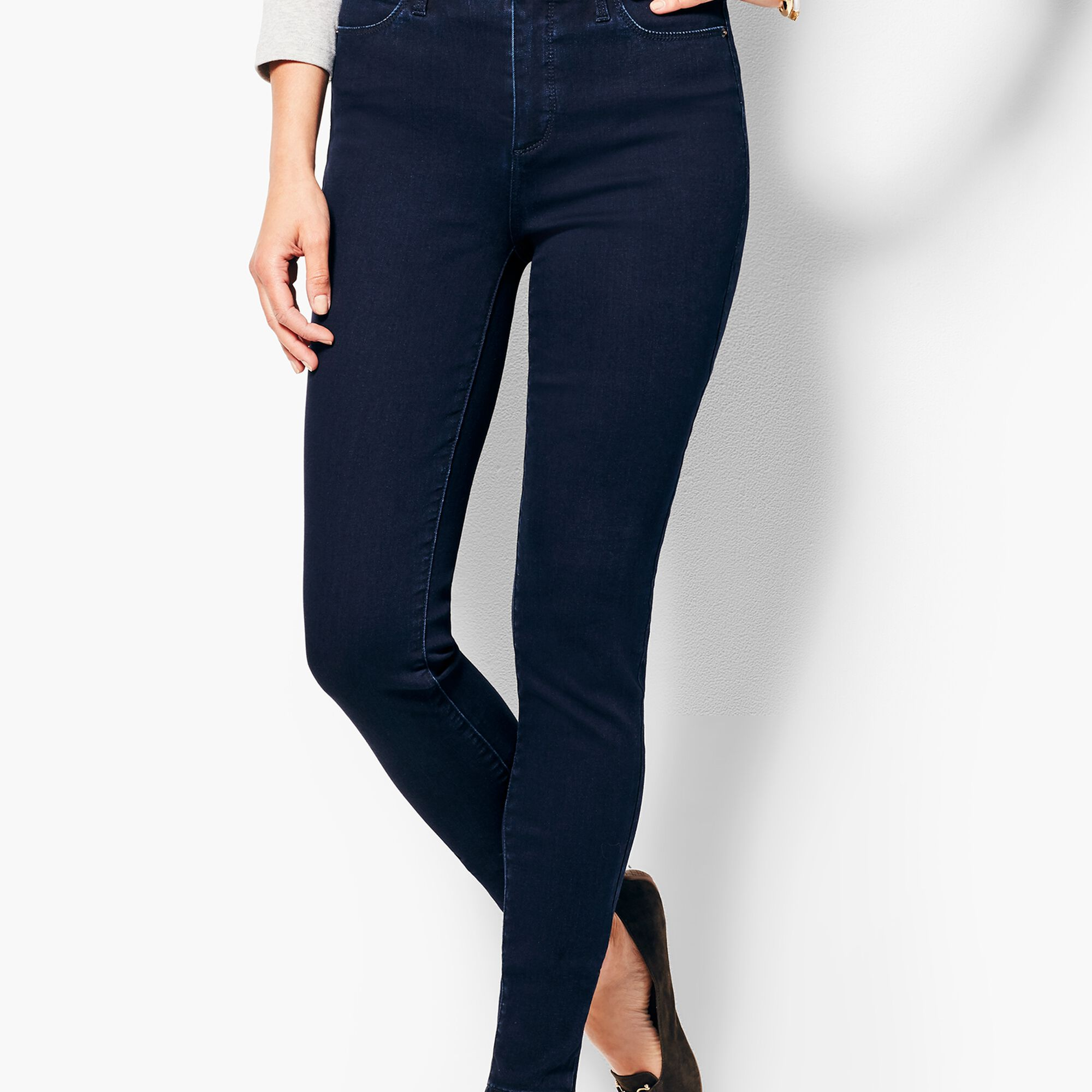 Images. Comfort Stretch Denim Jeggings - Rinse Wash 553b36284ce