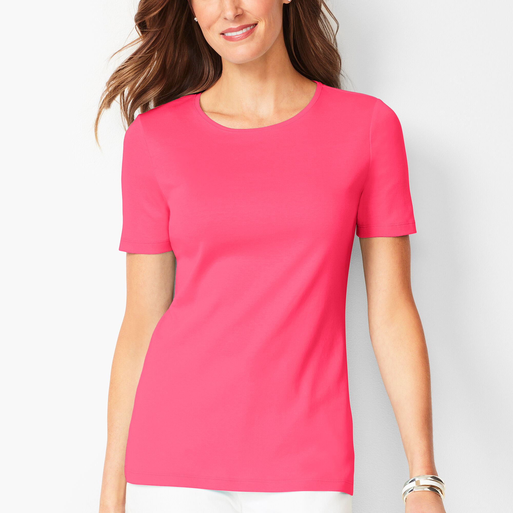 841ce439 Pima Cotton Crewneck Tee - Solid Opens a New Window.