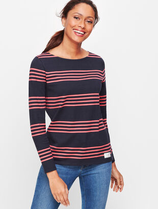 Authentic Talbots Tee - Atlantic Stripe