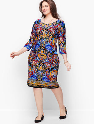Jersey Paisley Shift Dress