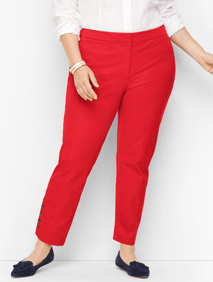 Plus Size Talbots Hampshire Button-Hem Ankle Pants