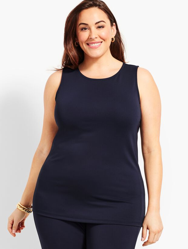 Plus Size Exclusive Knit Jersey Shell