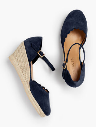 Lyndsay Espadrille Wedges - Scallop- Edge
