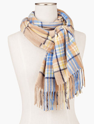 Pure Cashmere Scarf - Colorful Plaid