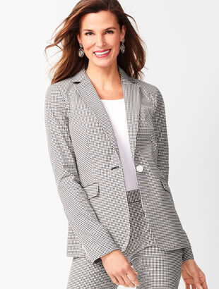 dcda56d6066 Tailored Gingham Blazer