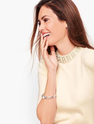 Embellished Neckline Sweater
