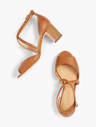 Gisela Cross-Strap Sandals - Vachetta Leather