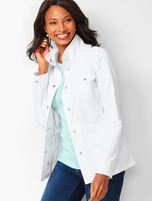 Casual Drawcord Jacket